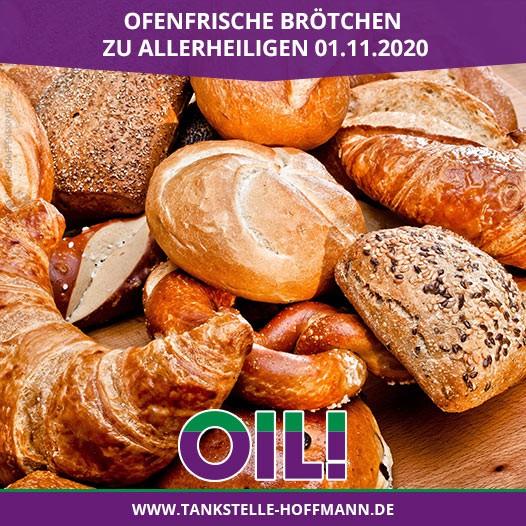 Ofenfrische Brötchen zu Allerheiligen 01.11.2020